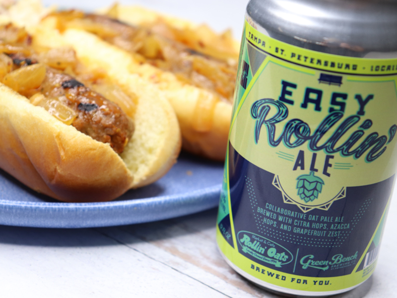 Meatless Beer Brats with Easy Rollin' Ale