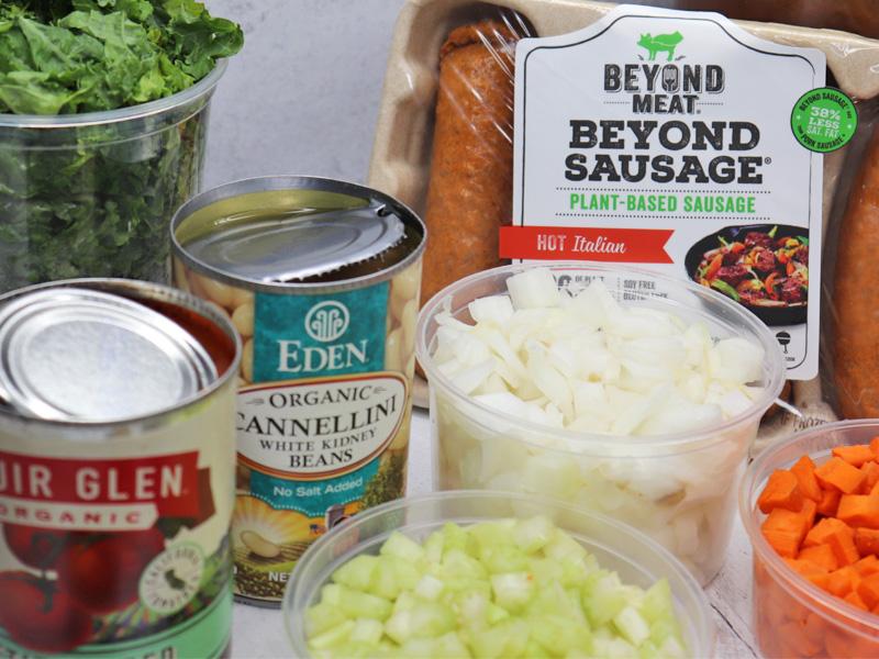 Vegan White Bean and Kale Soup Ingredients