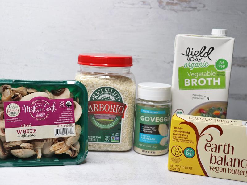 Vegan Risotto Ingredients